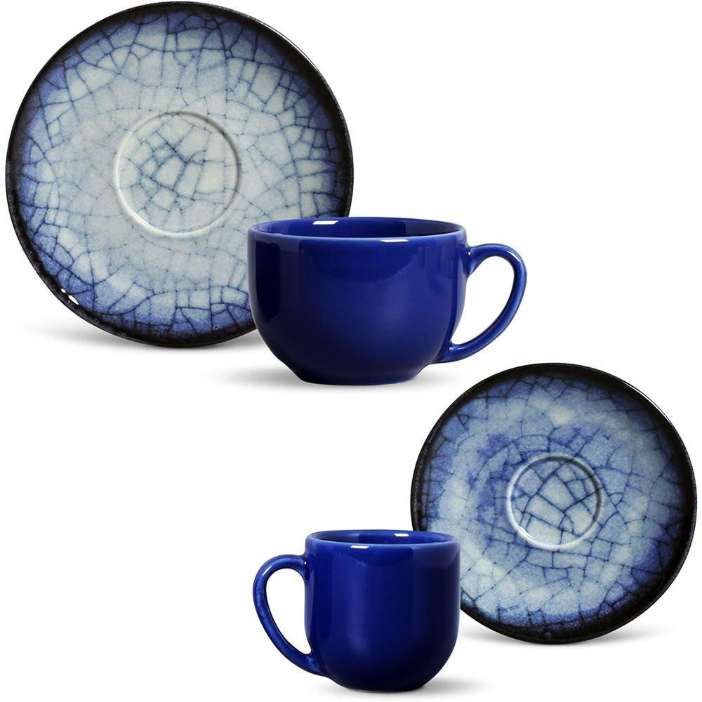 Aparelho De Jantar Coup Mosaic Blue 42 Peças