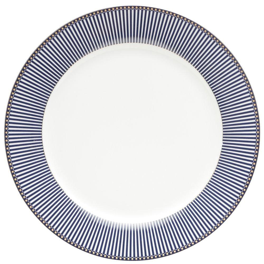 Aparelho De Jantar Geométrico Azul Wolff 42 Peças