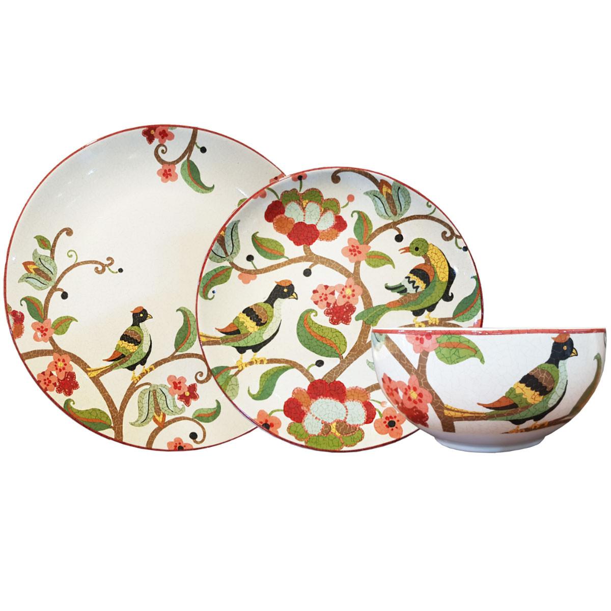 Aparelho De Jantar Porcelana Melia Red L´Hermitage 18 Peças