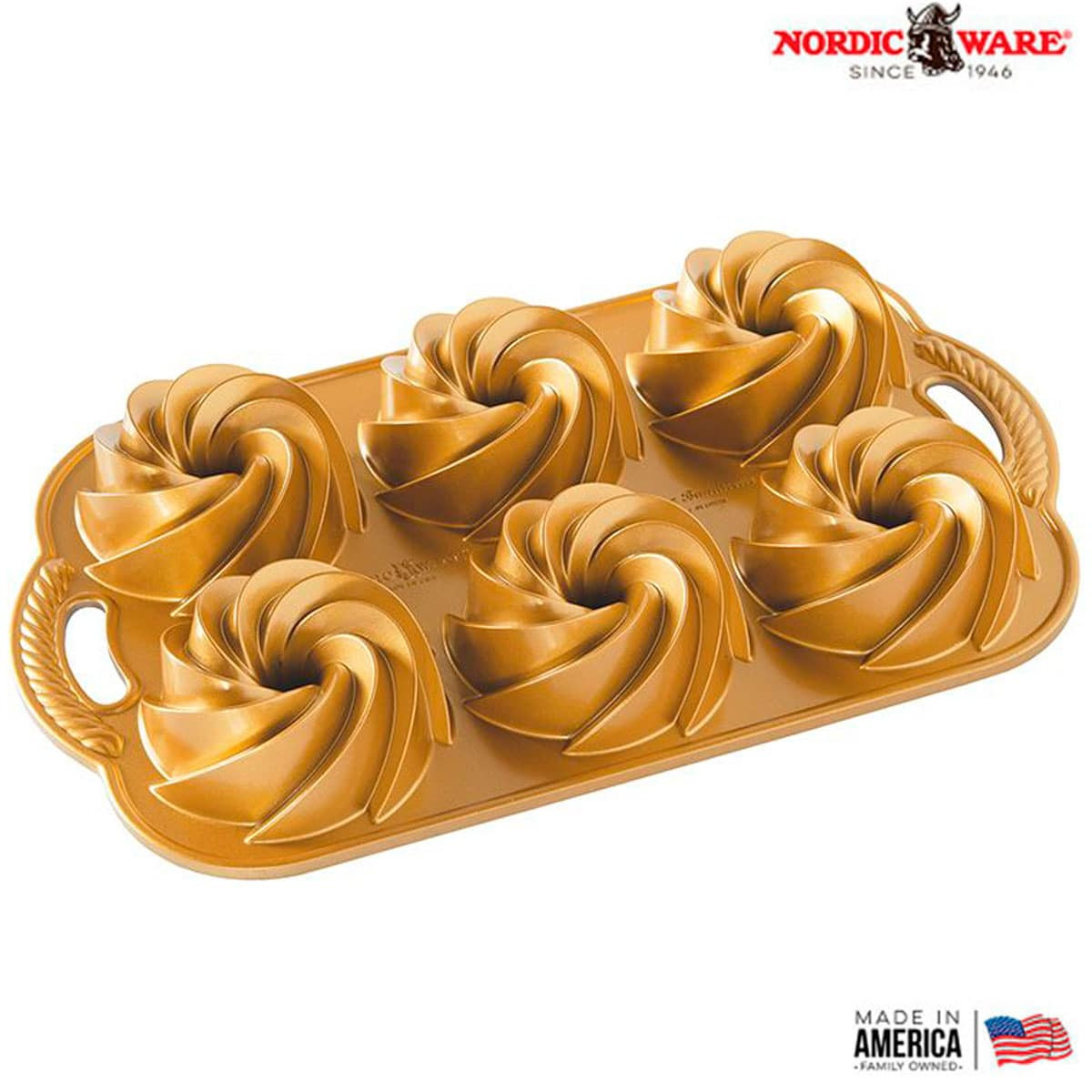 Forma Para Bolo Nordic Ware Heritage Bundtlette Original USA