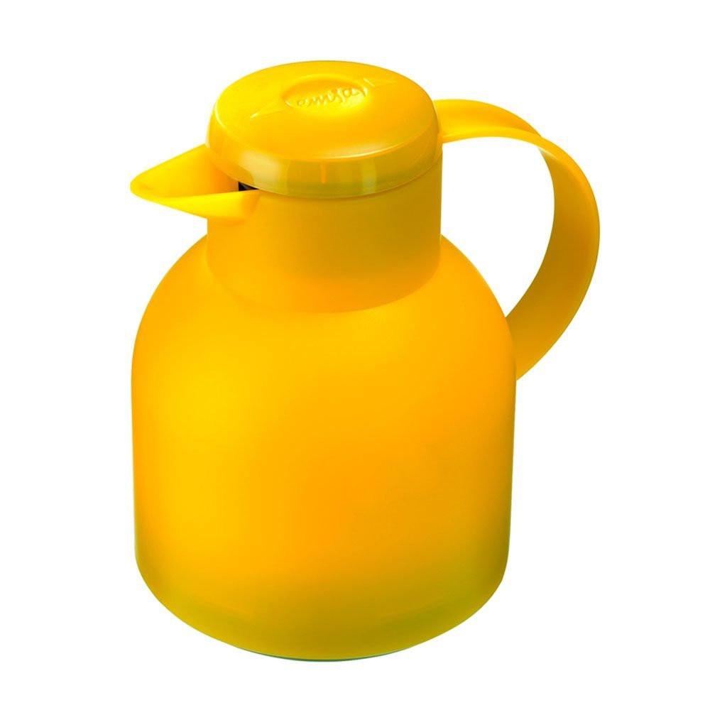Garrafa Térmica De 1 Litro  Amarela Quick Press Samba Emsa