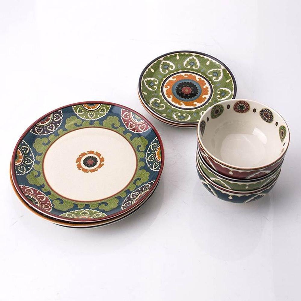 Aparelho De Jantar Em Porcelana Royal Suzani L´Hermitage 18 Peças