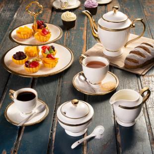 Jogo 3 Peças Para Chá Porcelana Paddy Wolff