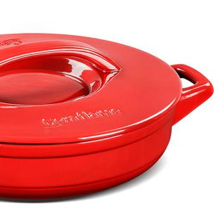 Caçarola De Cerâmica Buffet Duo Vermelha Ceraflame 28 cm