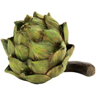 Alcachofra Verde Decorativa Resina