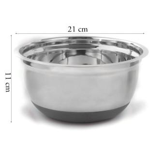 Bowl Culinário Inox Base Silicone M