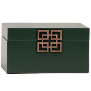 Caixa Decorativa Verde Sibéria Limoeiro