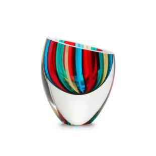 Centro De Mesa De Cristal Gota Bastões Coloridos Com Fios Murano