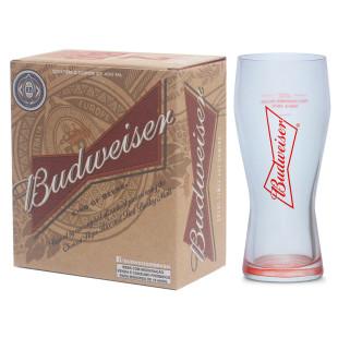 Conjunto 2 Copos Para Cerveja Budweiser Gravata 400Ml