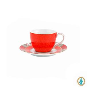 Conjunto 2 Xícaras De Café Blushing Birds Vermelha Pip Studio