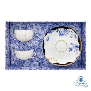 Conjunto 2 Xícaras De Chá Royal White Pip Studio
