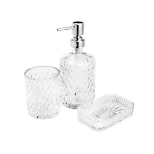 Conjunto 3 Peças Em Vidro Sodo-Cálcico  Para Banheiro Litt Prestige