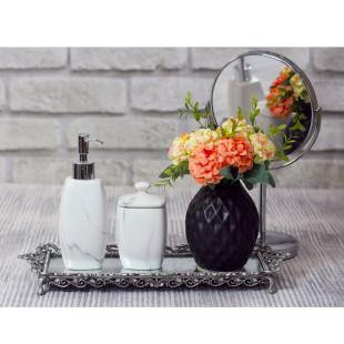 Conjunto 4 Peças Cerâmica Para Banheiro Pineapple Prestige