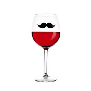Conjunto 6 Marcadores De Taças Bigodes Coloridos Wine Collection Kenya
