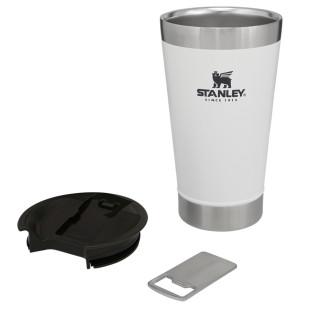 Copo Térmico Para Cerveja Stanley Pint Inox Com Abridor Classic White 473 Ml
