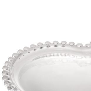 Jogo 4 Pratos De Sobremesa Coração Cristal Pearl Wolff