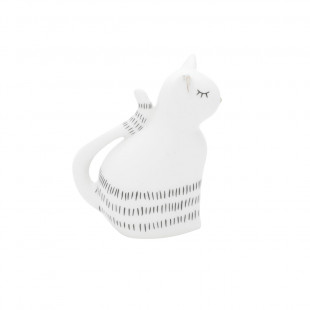 Estatueta Gato Little Lovely Decorativo Em Porcelana