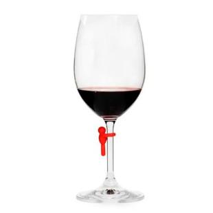 Conjunto 6 Marcadores De Taça Coloridos Wine Collection Kenya