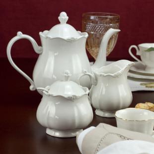 Jogo 3 Peças Para Chá Porcelana Wolff Fancy