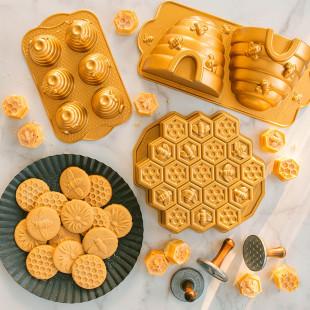 Forma Para Bolo Nordic Ware Beehive Cakelet Pan Original USA