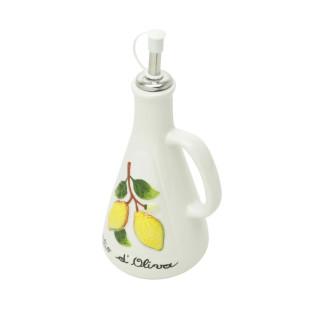 Garrafa Para Tempero De Cerâmica Com Dosador Lemons