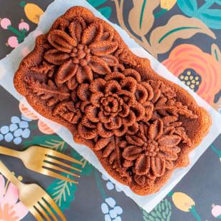 Forma Para Bolo Nordic Ware Wildflower Loaf Pan Original