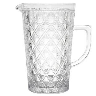 Jarra De Vidro Transparente Diamond Bon Gourmet