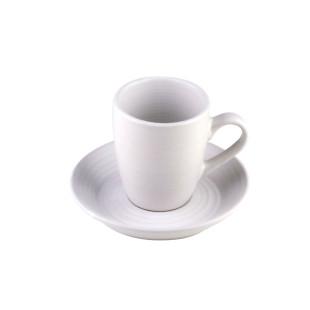 Jogo 4 Xícaras Brancas Para Café Com Pires Porcelana 90ml