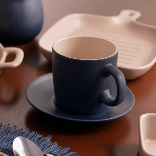 Jogo 4 Xícaras Para Chá Cerâmica Granilite Bon Gourmet 160ml