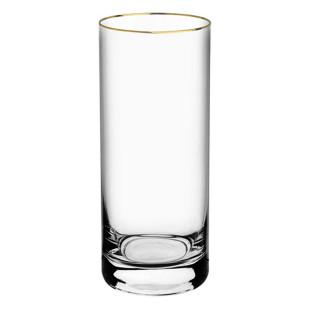Jogo 6 Copos Altos De Cristal Barware Gold Bohemia