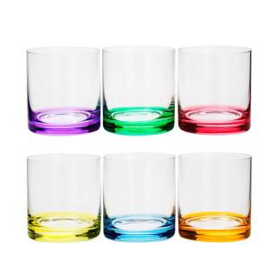 Jogo 6 Copos Coloridos Bohemia para Whisky