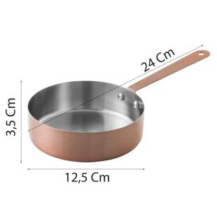 Mini Frigideira Inox Cobre 12,5 Cm