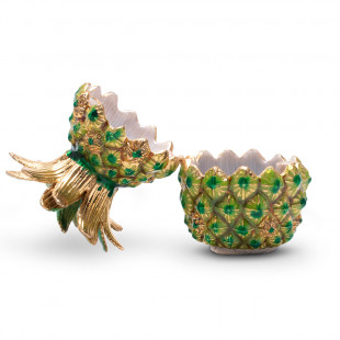 Mini Porta Joias Abacaxi Gold