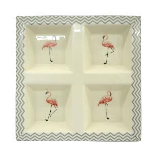 Petisqueira de Cerâmica Flamingo