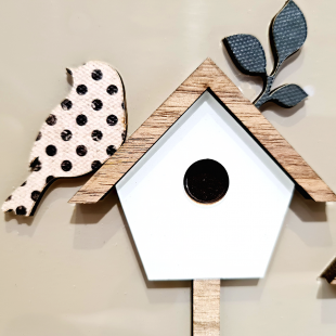 Porta Chaves Bird House Limoeiro