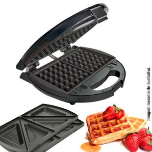 Sanduicheira e Máquina de Waffle Oster Modelo 127v