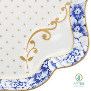 Travessa Royal White Pip Design