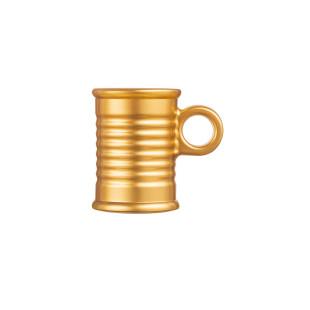 Xícara De Café Vidro Dourado Moi Luminarc