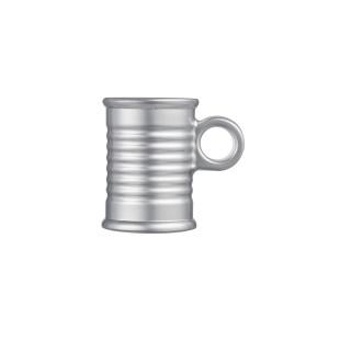 Xícara De Café Vidro Prata Moi Luminarc