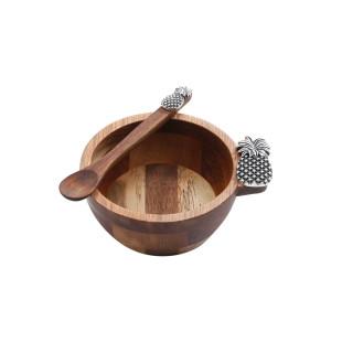 Jogo 2 Bowls De Madeira Bon Gourmet