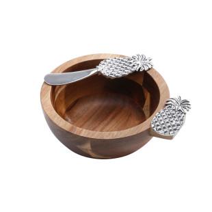 Jogo 2 Peças Bowls De Madeira Bon Gourmet