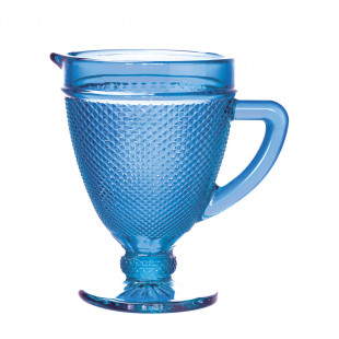 Jarra De Vidro Bico De Jaca Azul