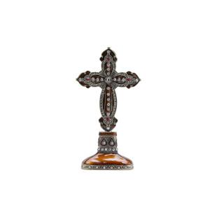Crucifixo De Zamac Dourado Prestige