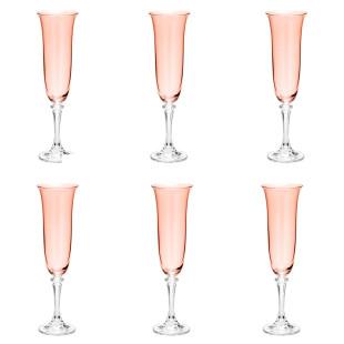 Jogo 6 Taças Champagne Kleopatra Branta Bohemia 175 ml