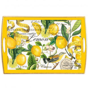 Bandeja De Madeira Lemon Basil Michel Design Works G
