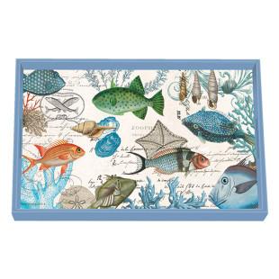 Bandeja De Madeira Vanity Sea Life Michel Design Works