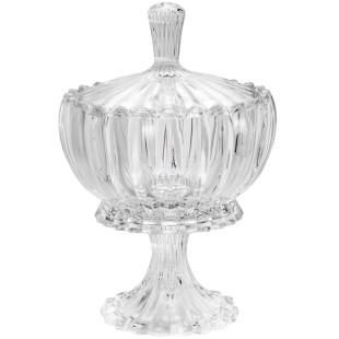 Bomboniere De Cristal Com Pé Wolff Geneva 31 cm