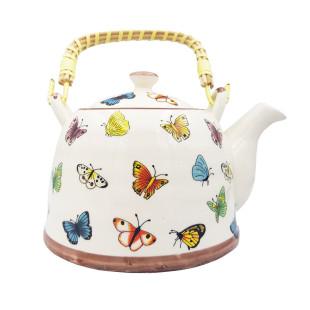 Chaleira De Cerâmica Teapot Borboleta 800 Ml