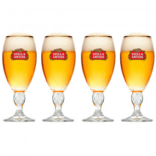 Conjunto 4 Taças Para Cerveja Stella Artois 250Ml