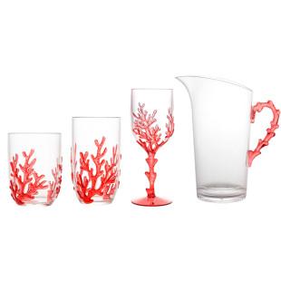 Conjunto Para Servir Coral Vermelho Bon Gourmet